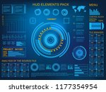 futuristic blue virtual graphic ... | Shutterstock .eps vector #1177354954