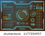 futuristic green virtual... | Shutterstock .eps vector #1177354957