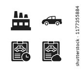 automotive icon. 4 automotive...   Shutterstock .eps vector #1177355884