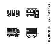 voyage icon. 4 voyage vector... | Shutterstock .eps vector #1177356481