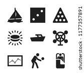 leisure icon. 9 leisure vector... | Shutterstock .eps vector #1177357891
