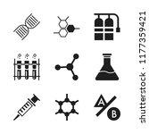 laboratory icon. 9 laboratory...   Shutterstock .eps vector #1177359421