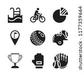 competition icon. 9 competition ... | Shutterstock .eps vector #1177359664