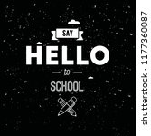 back to school. isolated vector ... | Shutterstock .eps vector #1177360087