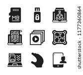 portable icon. 9 portable...   Shutterstock .eps vector #1177360864
