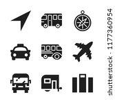 voyage icon. 9 voyage vector... | Shutterstock .eps vector #1177360954