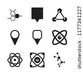 atom icon. 9 atom vector icons...   Shutterstock .eps vector #1177361227