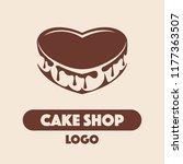 logo cake shop with heart shape ...   Shutterstock .eps vector #1177363507