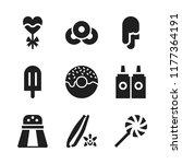 flavor icon. 9 flavor vector... | Shutterstock .eps vector #1177364191