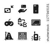 wireless icon. 9 wireless... | Shutterstock .eps vector #1177365151