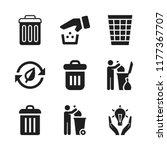 reuse icon. 9 reuse vector...   Shutterstock .eps vector #1177367707