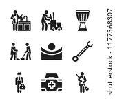 kit icon. 9 kit vector icons... | Shutterstock .eps vector #1177368307