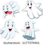 cartoon funny ghost collection... | Shutterstock .eps vector #1177370401