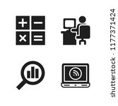workplace icon. 4 workplace... | Shutterstock .eps vector #1177371424
