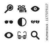 eyesight icon. 9 eyesight... | Shutterstock .eps vector #1177375117
