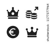 rich icon. 4 rich vector icons... | Shutterstock .eps vector #1177377964