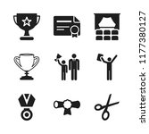 ceremony icon. 9 ceremony... | Shutterstock .eps vector #1177380127