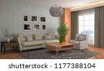interior of the living room. 3d ... | Shutterstock . vector #1177388104