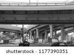 overpass and transport   Shutterstock . vector #1177390351