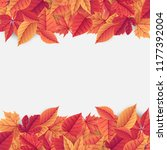 autumn sale background template ... | Shutterstock .eps vector #1177392004
