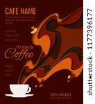 coffee menu design   paper cut... | Shutterstock .eps vector #1177396177