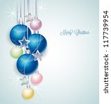 christmas background with stars ... | Shutterstock .eps vector #117739954