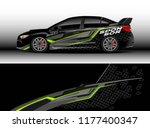 car wrap graphic vector.... | Shutterstock .eps vector #1177400347
