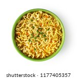 Plate Of Instant Noodles On...