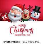 merry christmas greeting... | Shutterstock .eps vector #1177407541