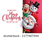 merry christmas greeting... | Shutterstock .eps vector #1177407544