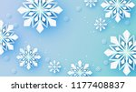 snowflakes design for winter... | Shutterstock .eps vector #1177408837