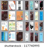 set of flyers and banners | Shutterstock .eps vector #117740995
