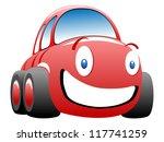 funny race car illustration | Shutterstock . vector #117741259