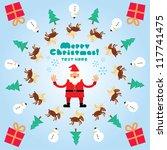 christmas pattern | Shutterstock .eps vector #117741475