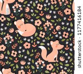 kids seamless pattern with cute ... | Shutterstock .eps vector #1177416184