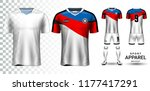 soccer jersey and football kit... | Shutterstock .eps vector #1177417291