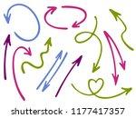 hand drawn diagram arrow icons... | Shutterstock .eps vector #1177417357