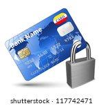 Credit Card And Padlock....