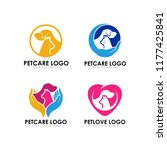 pet care logo design template | Shutterstock .eps vector #1177425841