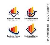 business corporate finance logo ... | Shutterstock .eps vector #1177425844
