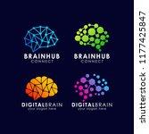 brain connection logo design.... | Shutterstock .eps vector #1177425847