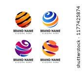 abstract earth logo design... | Shutterstock .eps vector #1177425874