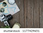 top view travel concept with... | Shutterstock . vector #1177429651