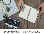 top view travel concept with... | Shutterstock . vector #1177429657