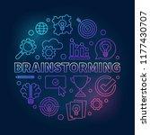 brainstorming round vector... | Shutterstock .eps vector #1177430707