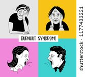 mental health. burnout syndrome.... | Shutterstock .eps vector #1177433221
