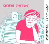mental health. burnout syndrome.... | Shutterstock .eps vector #1177433224