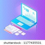 digital analytics data isolated ... | Shutterstock .eps vector #1177435531