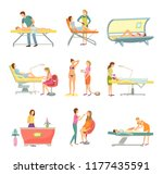 spa salon pedicure and barber... | Shutterstock .eps vector #1177435591