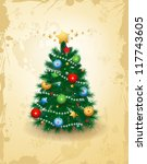 christmas card  vector... | Shutterstock .eps vector #117743605